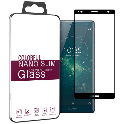 3D Curved Tempered Glass Screen Protector for Sony Xperia XZ2 - Black